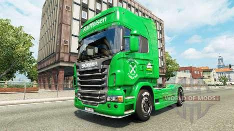 Raiffeisen skin for Scania truck for Euro Truck Simulator 2
