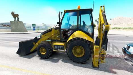 Backhoe loader in traffic for American Truck Simulator