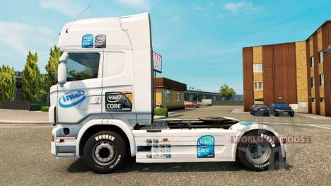 Intel skin for Scania truck for Euro Truck Simulator 2