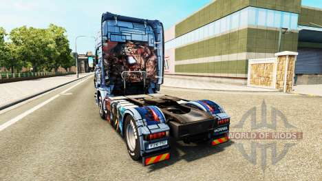 Skin Mass Effect 3 on the tractor unit Scania for Euro Truck Simulator 2