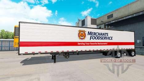Axle trailer Great Dane Spread Axle for American Truck Simulator