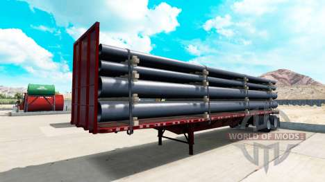 Semi-trailer-platform for American Truck Simulator