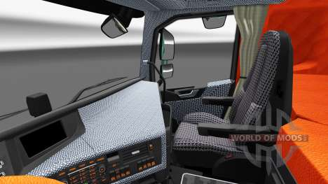 Plaid interior Volvo FH for Euro Truck Simulator 2