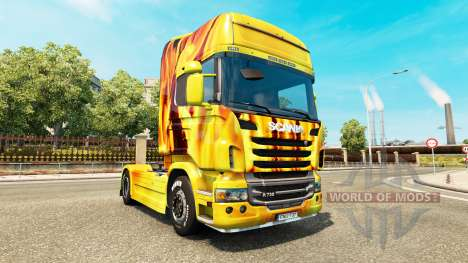 Fire skin for Scania truck for Euro Truck Simulator 2