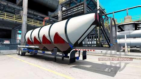 Semi-trailer cement truck for American Truck Simulator
