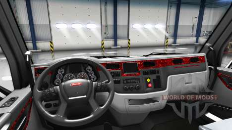 Mother of pearl interior in a Peterbilt 579 for American Truck Simulator