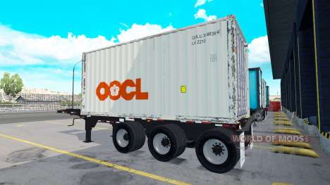 The semi-trailer with a 20 pound container for American Truck Simulator