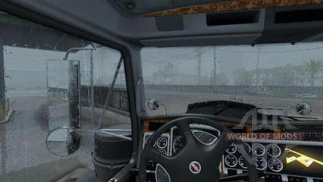 New rain (Realistic 3D ASMR Rain Fog Thunder) for American Truck Simulator