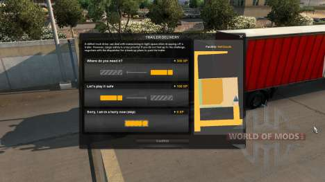 Increased experience for Parking for American Truck Simulator