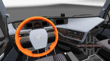 Plaid interior Volvo FH for Euro Truck Simulator 2