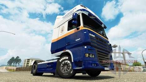 Flensburger Brauerei skin for DAF truck for Euro Truck Simulator 2
