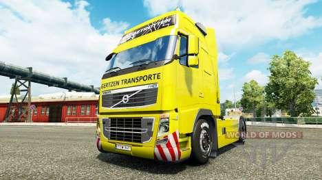 Gertzen Transporte skin for Volvo truck for Euro Truck Simulator 2