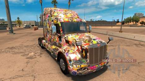 Sticker Bomb скин для Peterbilt 579 for American Truck Simulator