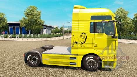 Gertzen Transporte skin for MAN truck for Euro Truck Simulator 2