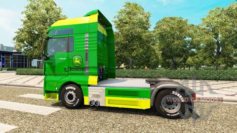Skin John Deere for MAN trucks for Euro Truck Simulator 2