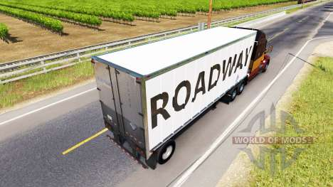 Skin RoadWay on the trailer for American Truck Simulator