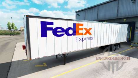 Skins UPS and FedEx for trailers for American Truck Simulator