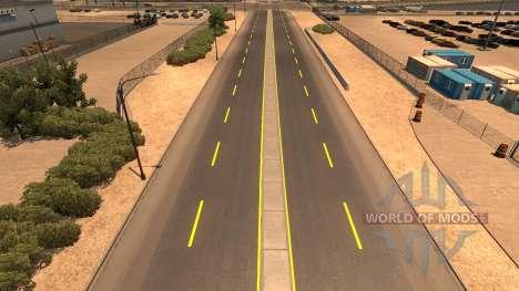 Yellow road markings for American Truck Simulator