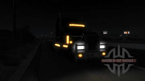 Realistic lighting (Real Headlights Mod) for American Truck Simulator
