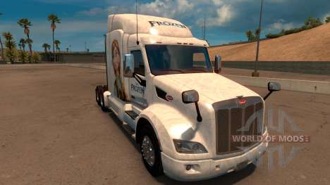 Frozen skin for Peterbilt 579 for American Truck Simulator