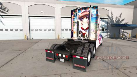 Skin Hanamiya Nagisa on a Kenworth tractor for American Truck Simulator