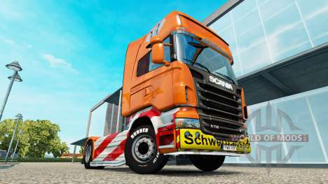 Heavy Transport skin for Scania truck for Euro Truck Simulator 2