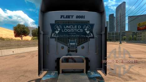Скин Uncle D Logistics для Kenworth W900 for American Truck Simulator