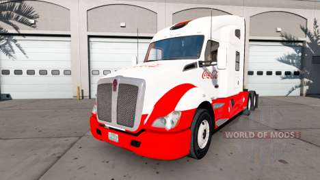 Skin Coca-Cola Kenworth tractor for American Truck Simulator
