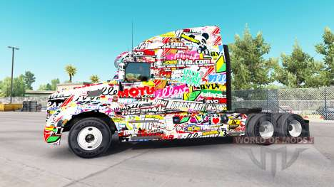 Skin Sticker for Peterbilt and Kenworth trucks for American Truck Simulator