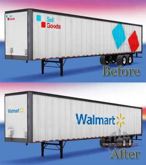 The WalMart Semi-Trailer for American Truck Simulator