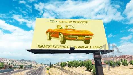 Vintage advertising on billboards for American Truck Simulator