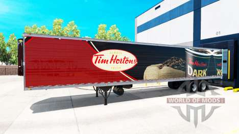 Skin Tim Hortons on the trailer for American Truck Simulator