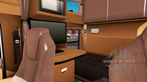 Brown interior Kenworth T680 for American Truck Simulator