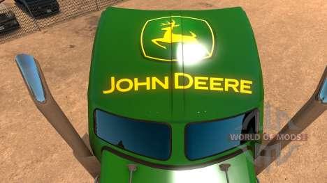 Kenworth W900 John Deere Skin for American Truck Simulator