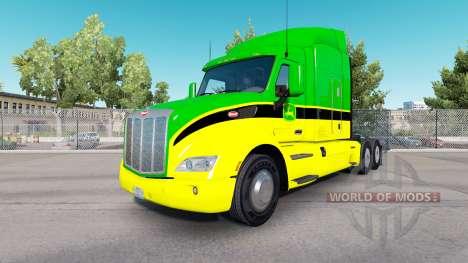 Skin John Deere tractors Peterbilt and Kenworth for American Truck Simulator