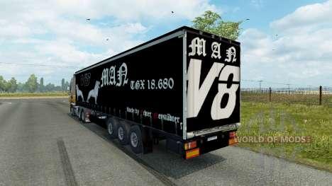 Trailer MAN V8 for Euro Truck Simulator 2