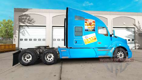 Skin White Castle on a Kenworth tractor for American Truck Simulator