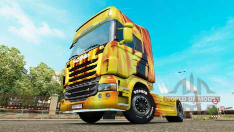 Fire skin for Scania truck for Euro Truck Simulator 2