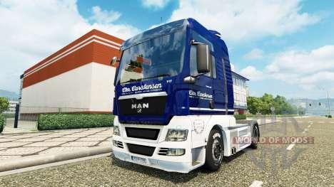 Carstensen skin for MAN truck v2.0 for Euro Truck Simulator 2