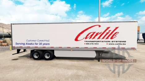 Carlile skin for trailer for American Truck Simulator