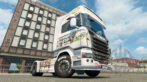 Skin Kinder on the tractor unit Scania for Euro Truck Simulator 2