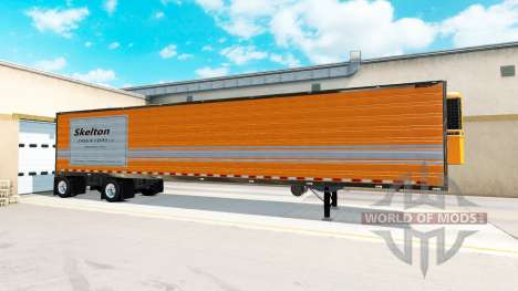 Axle trailer Great Dane Spread Axle for American Truck Simulator