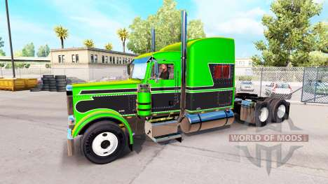 Metallic skins for the Peterbilt 389 tractor for American Truck Simulator