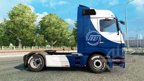 Skin Williams F1 Team on the tractor unit Merced for Euro Truck Simulator 2