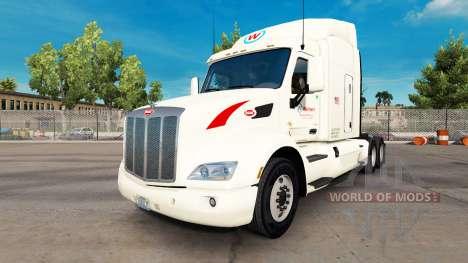 Wallbert skin for the truck Peterbilt for American Truck Simulator