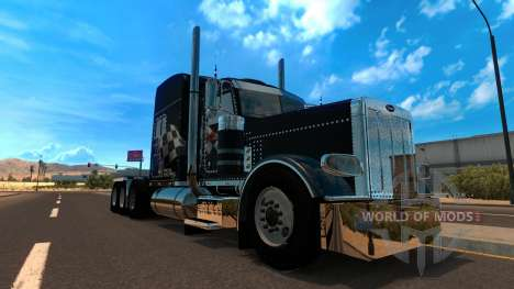 T-D-S Peterbilt 389 Racing Skin Mod for American Truck Simulator
