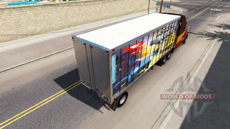 Skin ATS on the trailer for American Truck Simulator