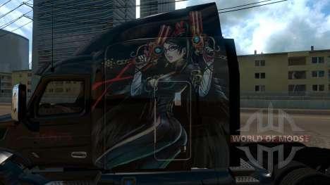 Peterbilt 579 Bayonetta skin for American Truck Simulator