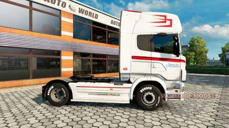 Skin Coppenrath & Wiese v1.1 on the tractor unit for Euro Truck Simulator 2