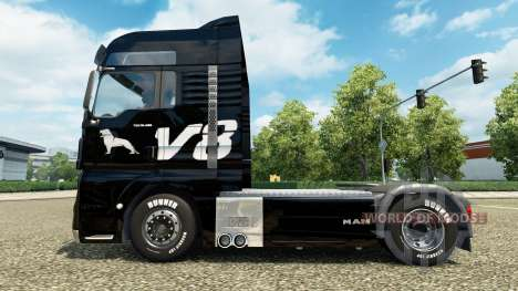 Skin MAN V8 truck MAN for Euro Truck Simulator 2